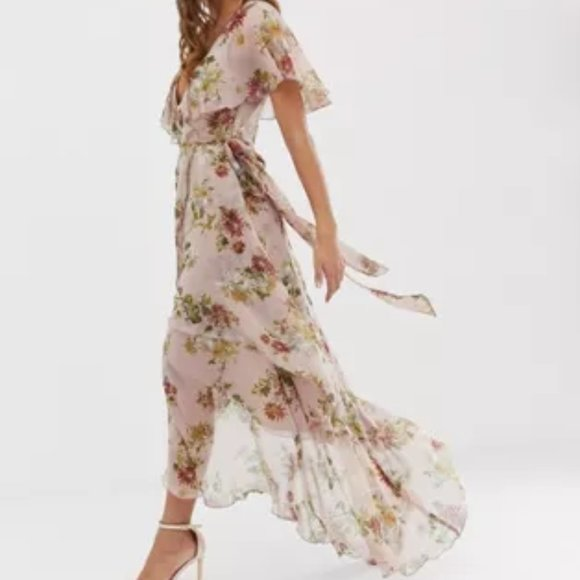 ASOS maxi dress with cape back